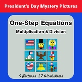 One Step Equations: Multiplication & Division - Color-By-N