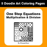 One Step Equations: Multiplication & Division - Coloring P