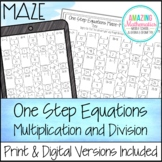 One Step Equations (Multiplication & Division) Maze