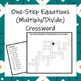 One-Step Equations (Multiplication and Division) Crossword!