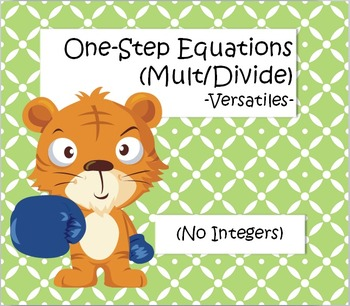 One Step Equations (Multiplication/Division) -... by Amy Skinner ...