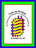 One Step Equations Multiplication and Division with Negatives Color by Number
