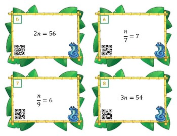 One Step Equations Multiply Divide and Scoot or Task Cards