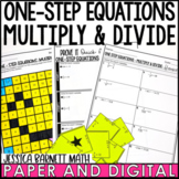 One-Step Equations Multiply and Divide Lesson Bundle