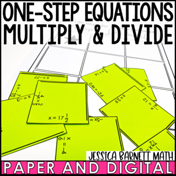 One Step Equations Multiply and Divide with Rational Numbers Puzzle Activity