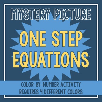 One Step Equations Mystery Picture