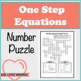 One Step Equations Number Puzzle