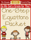 One-Step Equations Packet