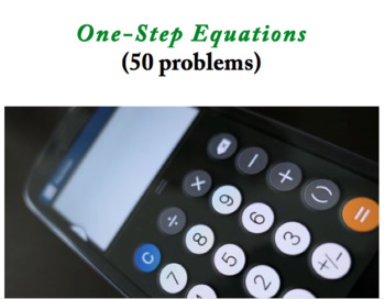 One-Step Equations (50 problems)