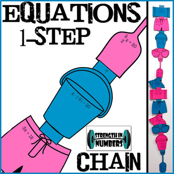 One-Step Equations Paper Chain Beach/Summer