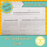 One Step Equations Partner Problems Combo Pack