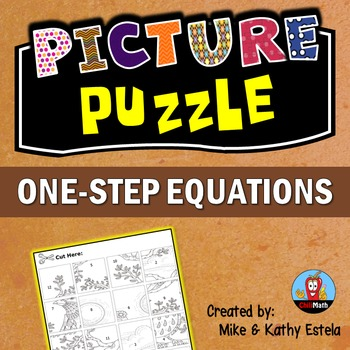 One-Step Equations Picture Puzzle
