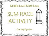 One Step Equations (Positive & Negative Answers) Sum Race
