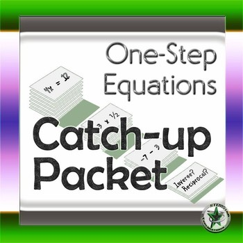 One-Step Equations Prerequisite Skills Review Packet