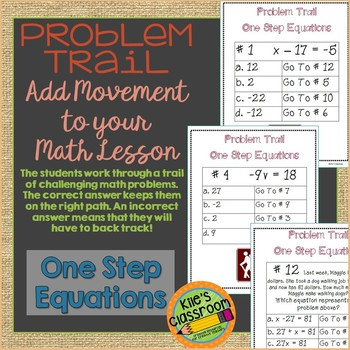 One Step Equations Problem Trail