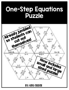 One-Step Equations Puzzle