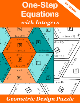 One-Step Equations Puzzle with Integers