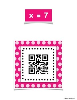 One-Step Equations QR Code Scavenger Hunt