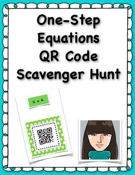 One-Step Equations QR Code Scavenger Hunt