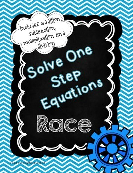 One Step Equations Race Game