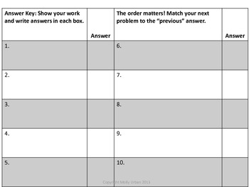 One-Step Equations Racing Scavenger Hunt (Decimals) With CC Standards