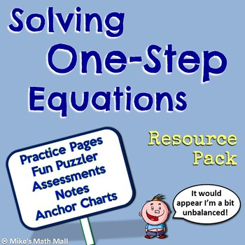 One-Step Equations - Resources Only