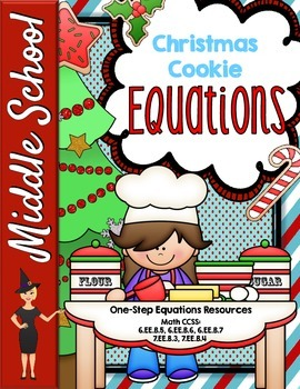 Christmas One-Step Equations Resources