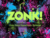 One-Step Equations Review Game ZONK! (7.EE.3)