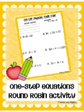 One Step Equations Round Robin Activity