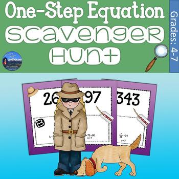 One Step Equations Scavenger Hunt