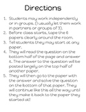 One Step Equations Scavenger Hunt - Addition and Subtraction