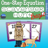 One Step Equations Scavenger Hunt - Basic Version