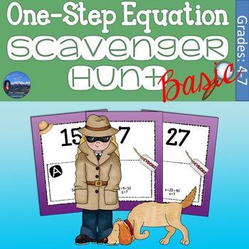 One Step Equations Scavenger Hunt - Basic Version