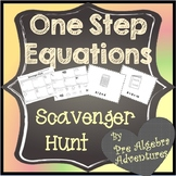 One-Step Equations Scavenger Hunt {1 Step Equations Game} {Algebra Activities}