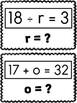 One-Step Equations Scavenger Hunt: Solving for Variables