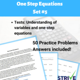 One Step Equations - Set 5