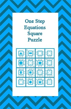 One Step Equations Square Puzzle