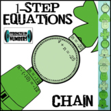 One-Step Equations St. Patrick's Day Paper Chain Partner Activity