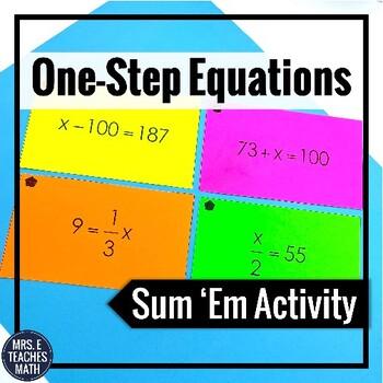 One-Step Equations Sum Em Activity