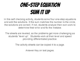 One-Step Equations Sum It Up