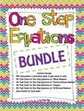 One Step Equations Task Card / Game Board Bundle