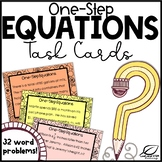 One-Step Equations Word Problems Task Cards