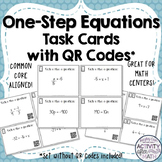 One-Step Equations Task Cards with QR Codes