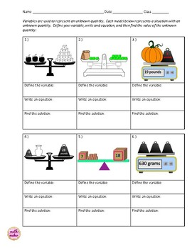 One Step Equations ~ Teaching for Conceptual Understanding