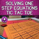 Solving One Step Equations Activity - Tic Tac Toe
