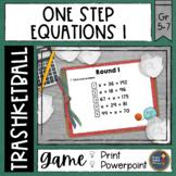 One Step Equations Trashketball Math Game