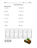 One-Step Equations VersaTile