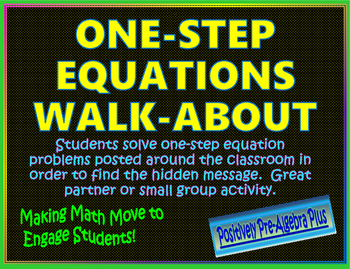 One-Step Equations Walk-About Activity