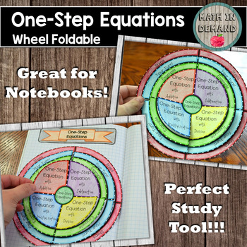 One-Step Equations Wheel Foldable