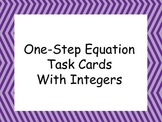 One Step Equations With Integers